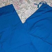 Nwt Dickies Daisy Cotton Scrub Pants 55015 Ind Blue Medium Free Ship Scrubs  Photo