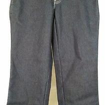 Nwt Dickies Dark Wash Relaxed Fit Tapered Leg Denim Mom Jeans Ladies 6 Petite Photo