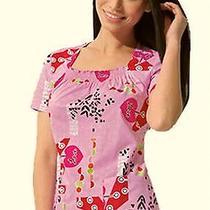 Nwt Dickies Jr 82841 Square Neck Scrubs Top Pink About It Pkat Medium Free Ship Photo