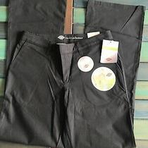 Nwt Dickies Women's Flat Front Stretch Twill Pant Slim - Black Sz 8 Photo