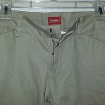 Nwt Dickies Women's Junior College Pant Khakis Size 11 Stretch Photo