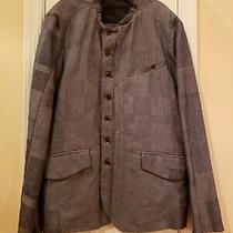 Nwt- Diesel Black Gold Size Xl Mens Denim Jacket Blazer Patches Rare 500 Photo