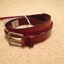 Nwt Diesel Men's Brown Genuine Leather Belt 140 Sz 32-34  Photo
