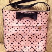 Nwt Disney Authentic Harveys Seatbelt Purse Blushing Minnie Mouse Print Pink Bow Photo