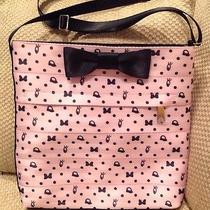 Nwt Disney Authentic Harveys Seatbelt Purse Blushing Minnie Mouse Print Pink Bow Photo