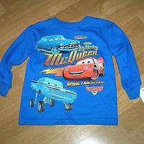 Nwt Disney Cars Lightning Mcqueen Doc Hudson Ramone Blue L/s T-Shirt Top 3t Photo