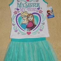 Nwt Disney Frozen 2 Pc. Shirt & Skirt Outfit Sz. 3t  Elsa  My Sister My Hero Photo