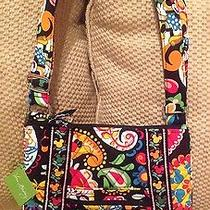 Nwt Disney Vera Bradley Large Hipster Midnight With Mickey Crossbody Photo