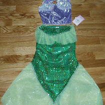 Nwt Disney World Princess Ariel Little Mermaid 2pc Fancy Dress Costume 6/6x Photo