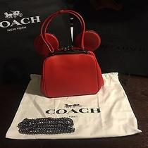Nwt Disney X Coach Limited Ed Mickey Mouse Kisslock Bag 37980 Red Sold Out Photo