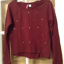 Nwt Divided h&m Urban Outfitters Unif Maroon Hardware Metal Skulls Sweater 4 S Photo