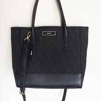 Nwt Dkny Handbag Tote Shoulder Purse Bag t&c W/ Vintage Black Msrp 245 Photo