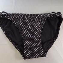 Nwt Dkny Side Ring Bottom Black W/ Khaki Polka Dots Size Xs Sexy Hot Must Have  Photo