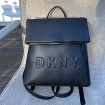 Nwt Dkny Tilly Medium Black Debose Backpack...authentic Photo
