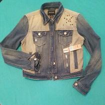 Nwt Dkny Womens Blue Jean Studded Button Down Jacket Size Xs Photo