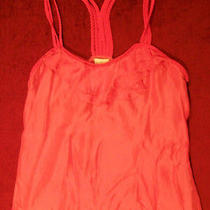 Nwt Dolan Pink Silk Braid Strap Tank Top L 198 New Photo