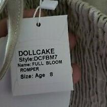 Nwt Dollcake Full Bloom Romper Party Special Girls Size 8 Photo