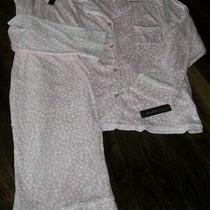 Nwt Donna Karan Blush Pink/white Dots Stretch Velour Pajama/lounge Set 2x Cozy Photo