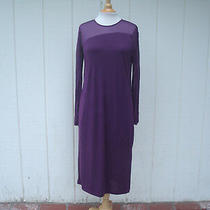 Nwt Donna Karan New York Dkny Purple Polyester Long Sleeve Women's Dress Sz S Photo