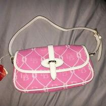 Nwt Dooney and Bourke Light Pink and White Nautical Rope Print Small Clutch Photo