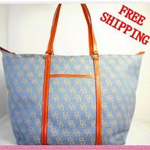 Nwt Dooney & Bourke Heather Blue Large Tote Handbag Purse Free Shipping Photo