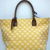 Nwt Dooney & Bourke Small Russel Shopper Tote Bag Orange/brown Canvas/leather Photo