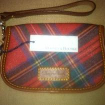 Nwt Dooney Bourke Wallet Wristlet Red Plaid Photo