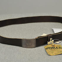 Nwt Double Rl Rrl by Ralph Lauren Sterling Silver Brown Leather Men's Belt 38 Photo