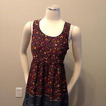Nwt Ecote Urban Outfitters Dress Bird Floral Print Boho  Photo
