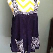Nwt Ecote Urban Outfitters Navy Marin Swing Tank Top- Size Medium- Retails 49 Photo