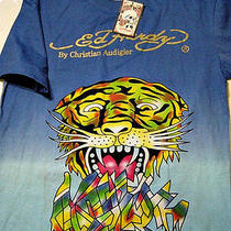 Nwt Ed Hardy Christian Audigier Wearable Art T-Shirt Psychedelic Tiger Size Xl Photo