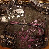 Nwt Ed Hardy Edna Black Tote Shoppers Handbag 100% Authentic Photo