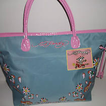 Nwt Ed Hardy Pink & Bluebeech / Shoulder/tote/carryall bag14.5 H X 5