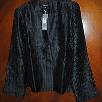 Nwt Eileen Fisher Silk Groove Jacket in Graphite L 458 Photo
