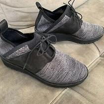 Nwt Eileen Fisher Wilson Lace-Up Knit Wedge Shoes Lug Sole Trainer Comfy Sneaker Photo