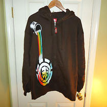 Nwt Element Brown Hoodie Zip Up Jacket Paint Can Size Xl Photo