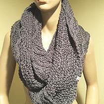 Nwt Element Eden's Dark Gray Ribbed Infinity Scarf Holiday 2015 Style Jascclau Photo
