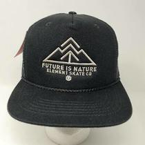 Nwt Element Skate Co Trucker Snapback Hat Future Is Nature Beach Surf Mesh Black Photo