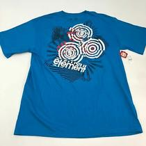 Nwt Element Wind Water Fire Earth Shirt Men's 2xl Xxl Short Sleeve Blue Cotton Photo
