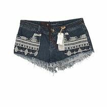 Nwt Element Women Blue Denim Shorts 27w Photo