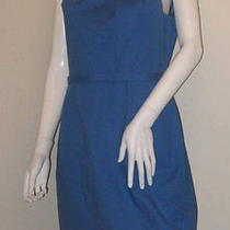 Nwt Elie Tahari 10 Woman Malia Island Teal Blue Dress Sheath Pleated Neckline Photo