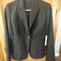 Nwt Elie Tahari Ava Jacket/blazer Black Size 6  Orig 448 Photo