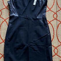 Nwt Elie Tahari Bernice Navy  Stretch  Dress 10 298 Photo