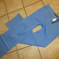 Nwt Elie Tahari Deandra in Ceramic Blue Wide Leg Stretch Twill Pants 10 X 33  Photo
