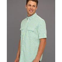 Nwt Elie Tahari Men's Hayden Green Checked Short Sleeve Shirt L Photo
