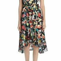 Nwt Elie Tahari Ryder Black Floral Dress - Us Size 8 Photo
