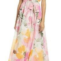 Nwt Eliza J Floral Halter Maxi Dress (Blush/watercolor)from Nordstrom Size 8 Photo