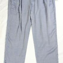 Nwt Ella Moss Lennon Pant Elastic Waist Pleats 100% Rayon Slim Leg Chambray Blue Photo