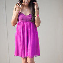 Nwt Ella Moss Nora Dress Sz Xs Silk Chiffon Stretch Corset Top Special Occasion  Photo