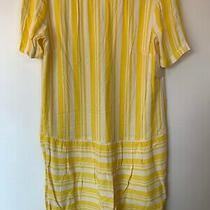 Nwt Ella Moss Yellow Ehite Stripe Mini Dress Size Large Photo